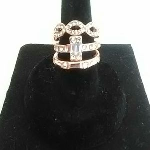 3 rose gold stackable rings